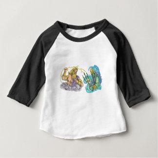 Coup de foudre de Zeus contre le tatouage de T-shirt Pour Bébé