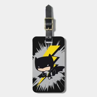 Coup-de-pied de foudre de Chibi Batman Étiquette À Bagage