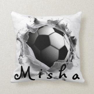 coup-de-pied du football coussin décoratif