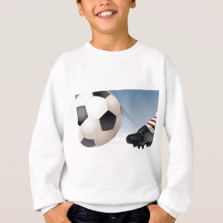 Coup-de-pied du football sweatshirt