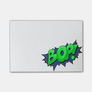 Coup de poing comique d'art de bruit ! post-it®