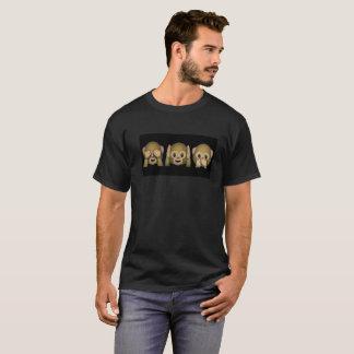 Coup d'oeil de singe d'Emoji T-shirt