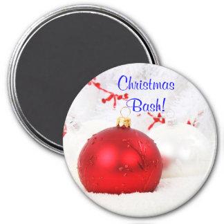 Coup II de Noël rouge et blanc de Noël Aimants