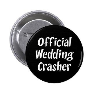 Coup retentissant de mariage badge avec épingle