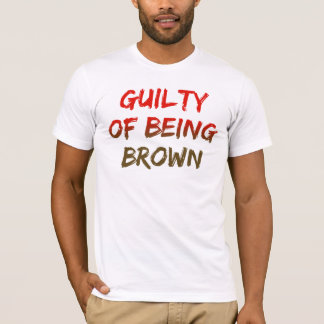 Coupable d'être Brown (logo de rayon de soleil) T-shirt