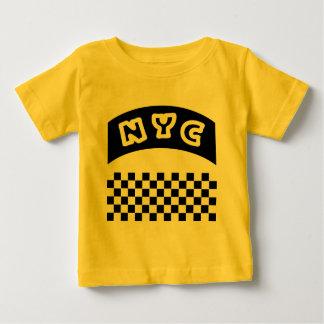 Coupe-circuit de NYC avec le damier et la bannière T-shirt Pour Bébé