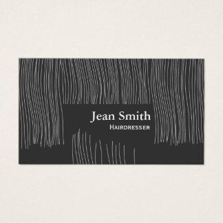 Coupe de cheveux mignonne de styliste en coiffure cartes de visite