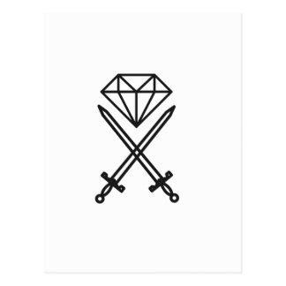 Coupe de diamant carte postale