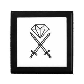 Coupe de diamant petite boîte à bijoux carrée