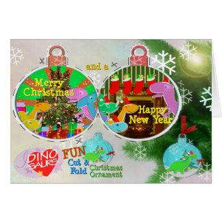 Coupe de Dinos de Joyeux Noël et carte de métier