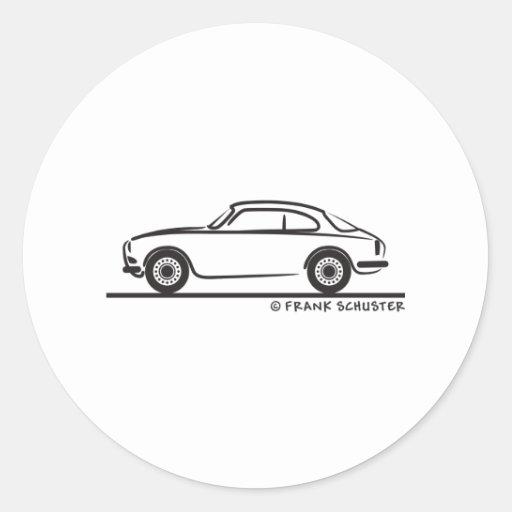 Coupé de sprint d'Alfa Romeo Guilietta Adhésifs Ronds