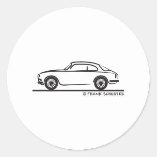 Coupé de sprint d'Alfa Romeo Guilietta Sticker Rond