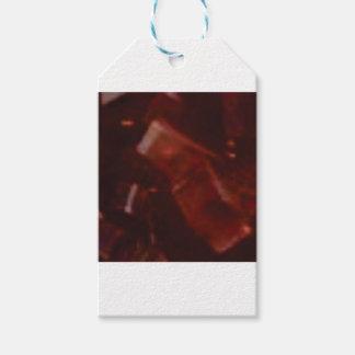 coupe rouge foncé de pierre étiquettes-cadeau