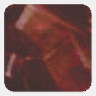 coupe rouge foncé de pierre sticker carré