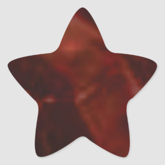 coupe rouge foncé de pierre sticker étoile