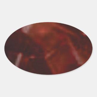 coupe rouge foncé de pierre sticker ovale