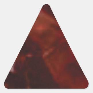 coupe rouge foncé de pierre sticker triangulaire