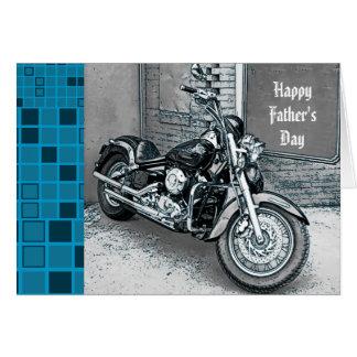 Couperet heureux de carte de fête des pères