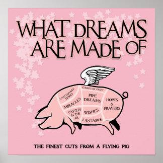 Coupes de porc de vol poster
