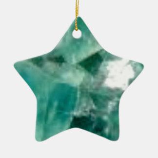 coupes d'émeraude ornement étoile en céramique