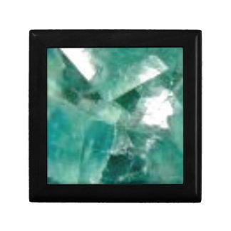 coupes d'émeraude petite boîte à bijoux carrée