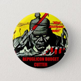 Coupeur de budget - bouton pin's