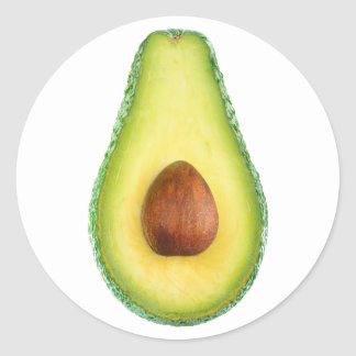 Coupez l'avocat sticker rond