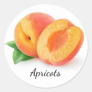 Coupez les abricots sticker rond