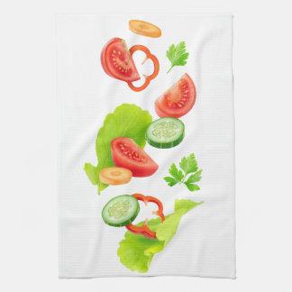 Coupez les légumes linge de cuisine