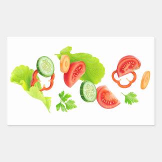 Coupez les légumes sticker rectangulaire
