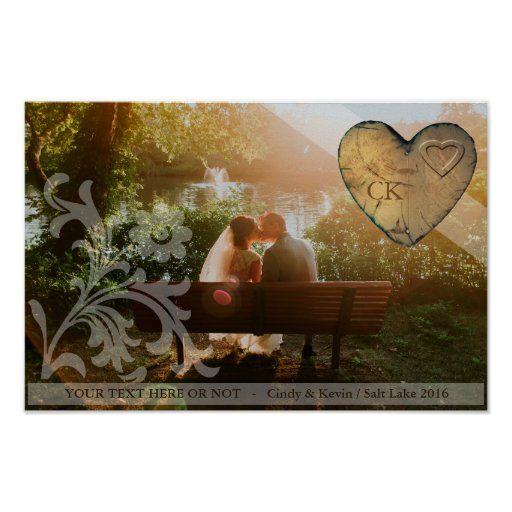 Couple Poster personalysed - Heart wood
