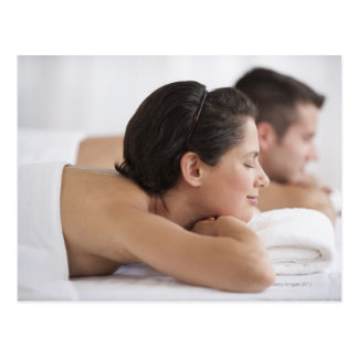 Couples au spa carte postale