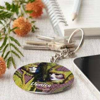 Couples colorés porte-clé rond