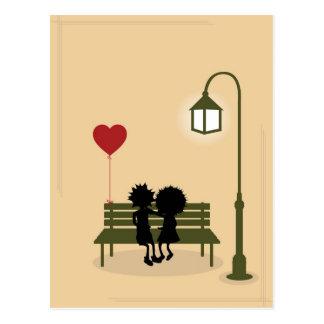 couples dans l amour carte postale