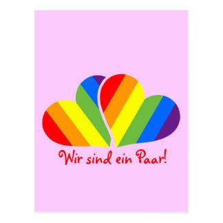 Couples d'arc-en-ciel carte postale