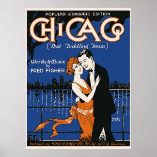 couples de danse de style des années 1920, musique posters