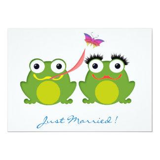 Couples de Froggy juste mariés Bristol