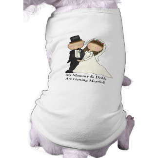 Couples de mariage (personnalisables) t-shirt pour chien