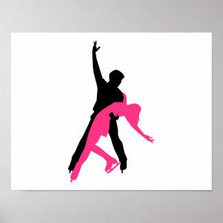Couples de patinage artistique affiche