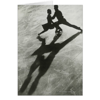 Couples de patinage de glace carte de vœux