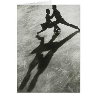 Couples de patinage de glace cartes
