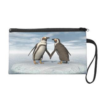 Couples de pingouins pochettes avec dragonne