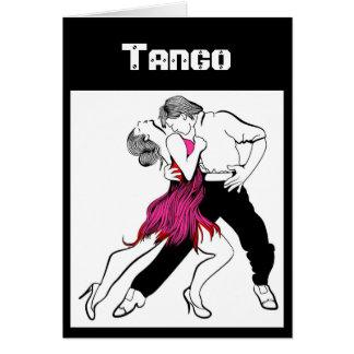 Couples de tango carte de vœux