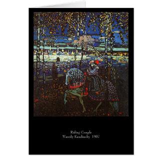 Couples d'équitation par Wassily Kandinsky 1907 Cartes
