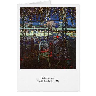 Couples d'équitation, Wassily Kandinsky 1907 Cartes