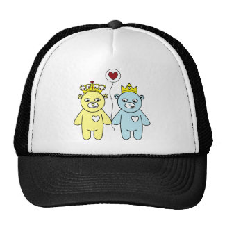 couples d'ours de nounours casquettes
