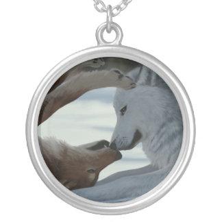 Couples doux de loup pendentifs