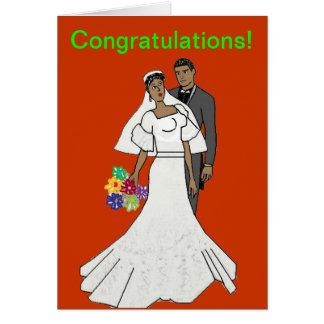 Couples ethniques carte de vœux