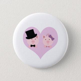 Couples mignons de porc badge