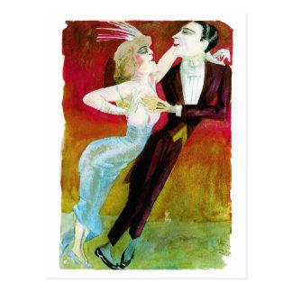 Couples modernes de danse par Otto Dix Carte Postale